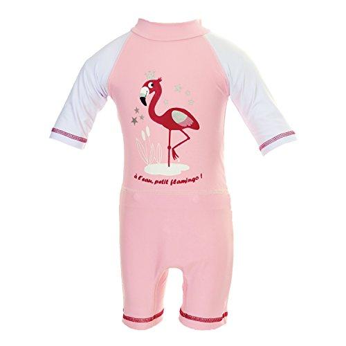 Rosa–Kombination Anti UV UPF50+ mit Schicht Aussparung Swim + Rosa Flamingo rosa Powder Pink 14-17 KG (24-36M)