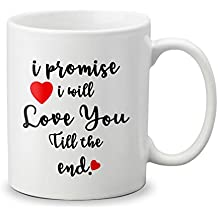 LOF Happy 1st First Valentine's Day Gift For Love My Life Special Girlfriend,Boyfriend,Wife,Husband Cute and Beautiful Best Love Qutation Mug 051