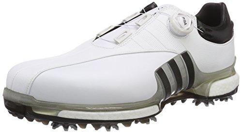 adidas Tour360 EQT Boa, Scarpe da Golf Uomo, Bianco (Blanco/Negro/Plata F33619), 43 1/3 EU
