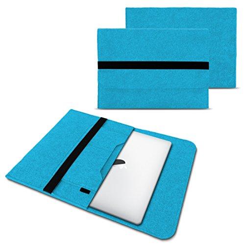 NAUC Laptop Tasche Sleeve Hülle Schutztasche Filz Cover für Tablets und Notebooks Farbauswahl kompatibel mit Samsung Apple ASUS Medion Lenovo, Farben:Türkis, Größe:12.5-13.3 Zoll