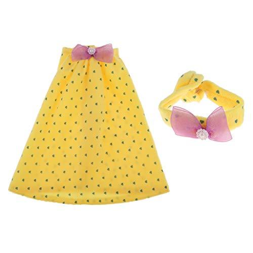 CUTICATE Süße Puppe Pyjama Kleid & Stirnband Nachtwäsche Für 1/3 BJD Nacht Lolita Puppe - # 1