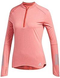 Adidas RS LS Zip tee W Camiseta, Mujer, (Rojo/Colhtr),