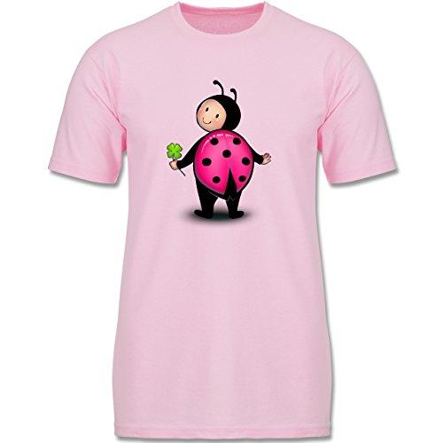 Tiermotive Kind - Marienkäfer - 104 (3-4 Jahre) - Rosa - F140K - Jungen T-Shirt (Teenager Marienkäfer-kostüm Für)