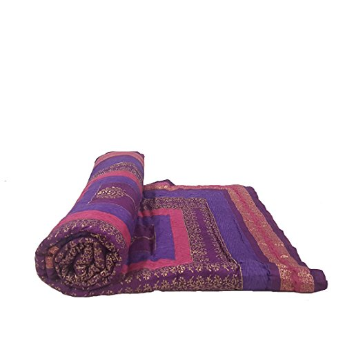 Jaipur Nagri Cotton Single Bed Jaipuri Razai Quilt Light Weight - Floral,...
