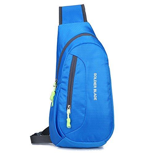 SWEDREAM Umhängetasche Brusttasche Sling Bag Rucksack Schultertasche Schulter Rucksäcke Crossbody Tasche Daypack zum Wandern Radfahren Reisen oder Multipurpose (Blau) -