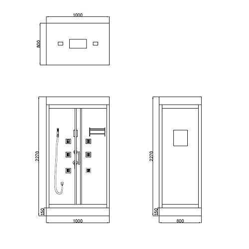Home Deluxe Wave Duschtempel im Test (inkl. Zubehör) - 5