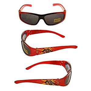 Disney UV Protected Wrap-Around Boy's Sunglasses - (C30250-(Red)|40|Black Color)