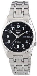 Reloj Seiko Seiko 5 SNK587K1 automático para hombre, correa de acero inoxidable color plateado (agujas luminiscentes) de Seiko