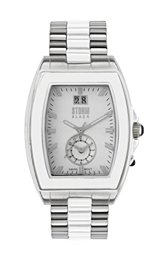 STORM Unisex-Adult Quartz Watch, Analogue Classic Display and Stainless Steel Strap 47031/S/W