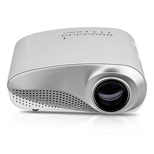 Excelvan® Hot HD LED-Projektor 480* 320Tragbare Mini HD LED/LCD-Projektor Home Cinema Theater PC Laptop VGA USB AV HDMI (Theater Pc Home)