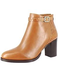 [Sponsored]Saint G Womens Tan-Croco Napa Leather Ankle Boots/Block Heel Boots/Women Stylish Boots