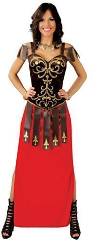 Römisch Maxi Historisch Griechische Toga Krieger Gladiator Velvet Kostüm Kleid Outfit 14-18 - Rot, UK 14-18 (Sexy Toga Kleid)