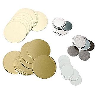 AGX Einseitig bedruckbare Rondenplatten aus Aluminium in Ø 25 mm oder in Ø 50 mm in Verschiedenen Ausführungen und Immer 50 Ronden in Einer Verpackungseinheit (Ø 50 mm, Silber/Glanz)