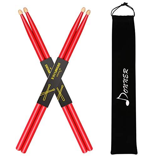 Donner 5A Drumsticks Rot Klassisches Ahorn Holz
