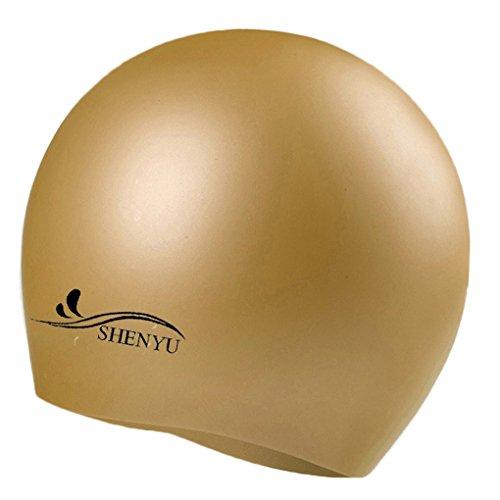 LUFA Wasserdichtes Silikon Schwimmen Kappen Ohr schützt Schwimmen Kappen Hut Abdeckung für Erwachsene Kinder Kinder