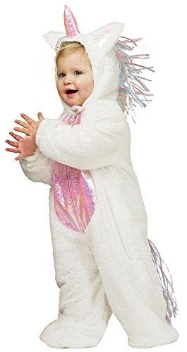 Baby Einhorn Kostüm für Kinder - Süßer Tier Overall für Karneval, Fasching oder Kindergeburtstag