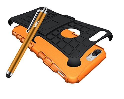 Apple iPhone 8Plus case–Coperchio della custodia cover resistente Premium qualità antiurto builder [stand View] cover con pellicola proteggi schermo, panno in microfibra e pennino rosa Pink Orange