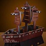 Hölzernes Weinflaschengestell, Elegante Dekoration Der Schiffsform, Das Leben Des Reibungslosen Segelns Bedeutend