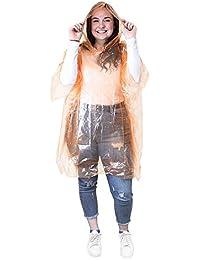 eBuyGB Pack de 5 adultos emergencia impermeable lluvia Ponchos con capucha - festivales parques