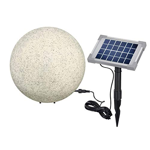 BUVTEC Solar-Leuchtkugelset-30-40-50cm-Steinoptik-Solarleuchte-granit-esotec