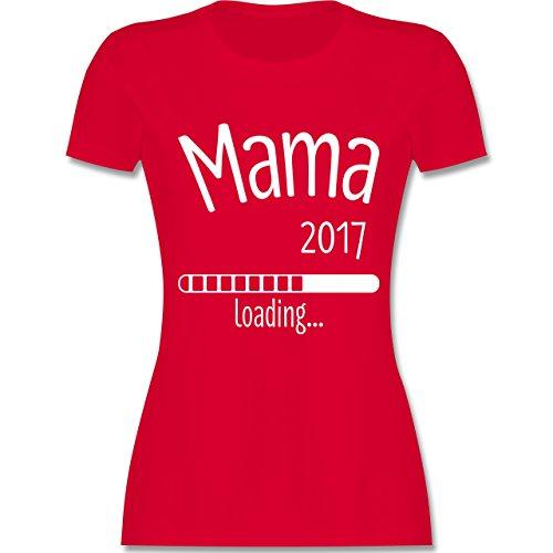 Schwangerschaft - Mama 2017 loading - tailliertes Premium T-Shirt mit Rundhalsausschnitt für Damen Rot