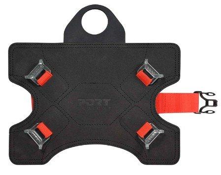 Port Designs 201363 Muskoka Travel Universelle Kopfstützenhalterung für Tablet bis 22,86-25,65 cm (9/10,1 Zoll) schwarz