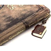 Marque-pages grimoire Phosphorescent, marque page livre polymer clay, livre lumineux, bookmarks gift, livre miniature, marque-page étudiant