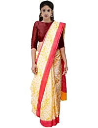 60ad27bf5d Unnati Silks Women Printed Bengal Soft Silk Saree with blouse piece from  the Weavers of West