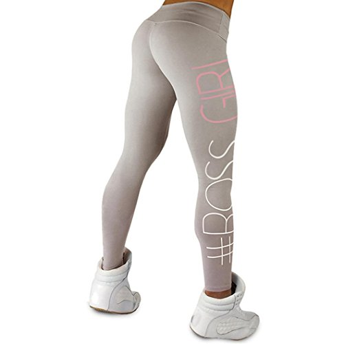 Pantalon Yoga Femme,Manadlian Femmes haute taille Sports gym yoga Running fitness leggings pantalons pantalon athlétique Gris