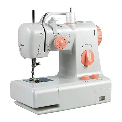 QIN.J.FANG Máquina De Coser Máquinas De Coser Domésticas Eléctricas Luz De LED Incorporada Y Cuchillo De Corte,220V