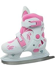 Realmente Girl 's Iceskate, color blanco y rosa, niña, Iceskate, blanco/rosa