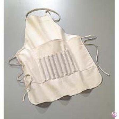efco Schürze für Hobby Künstler mit Tasche, Baumwolle, Natur, 60x 50cm
