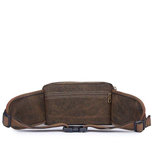 GXYLLDS BELT Cintura Di Corsa Fitness Fitness Reversible Fitness Travel Pack Di Vita Easy To Use Adatto Per Telefoni Cellulari Include Catena Chiave / Anello. Brown