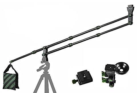 IMORDEN 5.7ft Kohlefaser Mini Kamerakran mit Sandsack für DSLR und Videokameras(max. Bürde: 8 pfund)