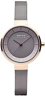 BERING Women's Analogue Solar Powered Watch with Stainless Steel Strap 14631
