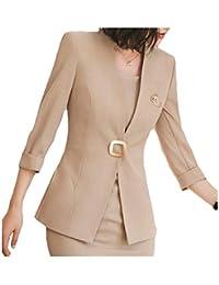Betrothales Blazer Mujer Americana Oeste Botón Moda Formal V-Cuello Moda  Joven Abrigo Otoño Outerwear 4fda37d4dd40b