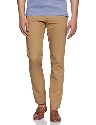 Amazon Brand - Symbol Men's Slim Fit Casual Trousers (AW-SY-MCT-1157_Khakhi_32W x 31L)