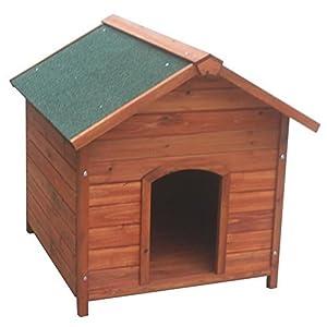 POILS & PLUMES Niche Milou M en bois 78x88x81 cm - Pour chien