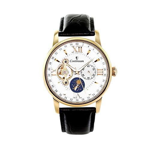 Continuum Herren-Armbanduhr Automatik Analog Leder Schwarz - C15H17