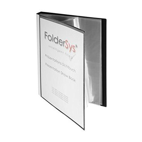 FolderSys Sichtbuch DIN A4, incl. 40 Hüllen, schwarz, VE 1 St., 2501430