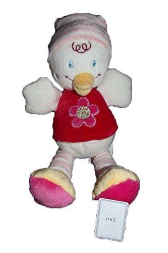 Kiabi–Doudou Kiabi Poussin pato Pull rojo flor diadema...