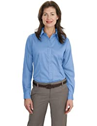Port Authority® Ladies Non-Iron Twill Shirt.