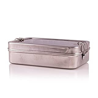 Nexxa Rectangular Stainless Steel lunch box with Additional Container Indian-Tiffin Box