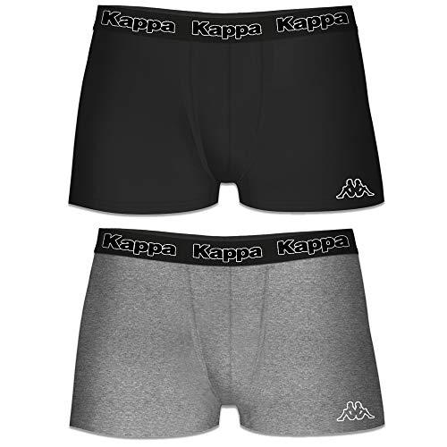 4f96238bb596 Kappa Classic Logo Mens Boxer Shorts Underwear Briefs Trunks (Pack of 2)  Black/