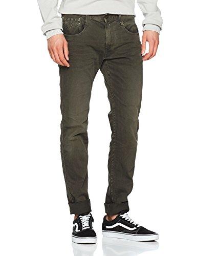 Replay Herren Slim Jeans Anbass Grün (Medium Green 40)