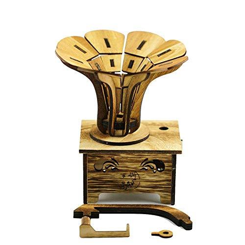 sic Box Ornamente aus Holz Phonographen Modell Retro-Musik-Box ()