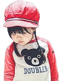 Bigood Chapeau de Soleil Enfant bébé Casquette de Baseball Camping Voayge Eté Rouge