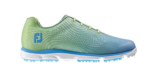 Footjoy Damen Golfschuhe Mehrfarbig Verde Lima/Azul Claro 36.5 (M) (Shop Footjoy Schuhe)
