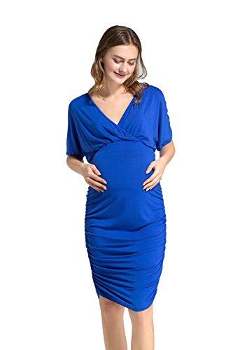 Dance fairy camicia da donna per maternità,camicie e casacche da premaman per allattamento al seno, blu, xl