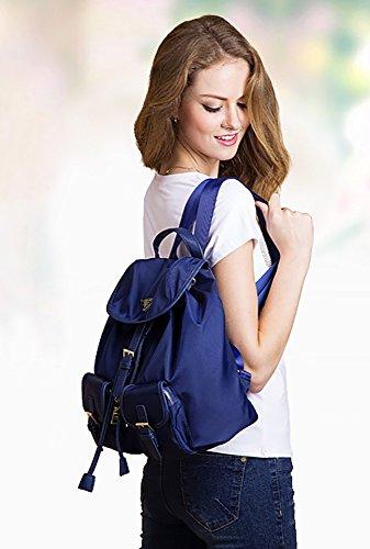 CLOTHES- Borsa a tracolla Versione coreana del taschino impermeabile Oxford Canvas Zaino di viaggio Leisure di nylon ( Colore : Blu ) Blu